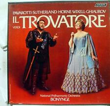 BONYNGE PAVAROTTI SUTHERLAND HORNE verdi il trovatore 3 LP VG+ OSA 13124 Vinyl