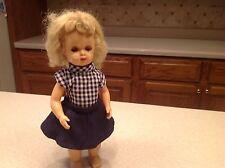 Vintage Tiny Terri Lee Doll Walker W/ Tagged Clothing Blond Brown Eyes