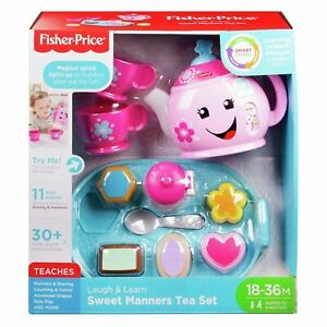 Fisher-Price Laugh & Learn Light-Up Sweet Manners Tea Set with 10 Play Pieces