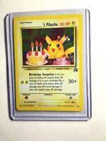 NM+ Pokemon _'s HAPPY BIRTHDAY PIKACHU Card BLACK STAR PROMO Set #24 Holo WOTC
