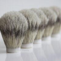 10 Pcs Boar Bristle Hair Shaving Brush Knot Head Size 22mm for DIY Beard Remove
