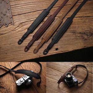 Genuine Leather Camera Strap Belt For Leica Fujifilm Lumix Sony Canon Nikon