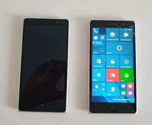 Lot de 2 Smartphones Nokia lumia 830, dont un fonctionnel, à reconditionner.