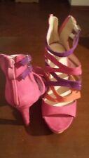 Scarpe Sandali Donna Sweet Shoes Tacco 12, Colore Rosa Fucsia Arancione,Numero38