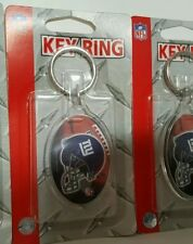 Lot 4 Pieces New York Giants 2 Sided Acrylic Key Chains New Manning Beckham Jr