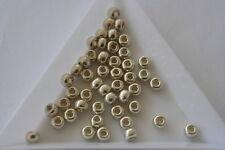 ALLUMINIO ZINCATO Miyuki Seme Perline. Taglia 6 4mm. 150 Perline. #1344