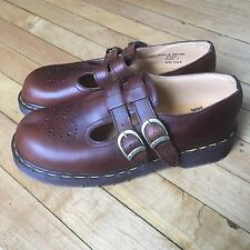 Dr Martens Womens  Sz 7 US / 5 U  ENGLAND MaryJane Buckle Strap Clog Shoes New