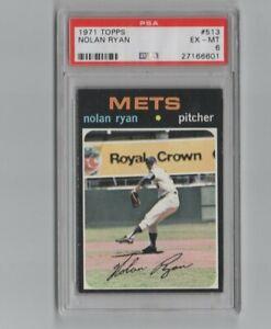 1971 Topps #513 Nolan Ryan New York Mets HOF PSA 6 EX-MT