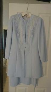 CONDICI SET (12) Blue Dress and Beaded Jacket /Mother of the Bride/Wedding/Races
