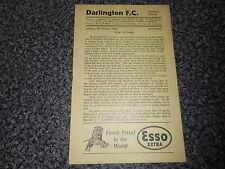 DARLINGTON  v  SOUTHPORT  1954/5  DIVISION 3 (NORTH) ~ OCTOBER 9th **FREE POST**
