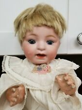 "Antique Bisque Doll Morimura 1915 Character Baby 14"" Period Clothing Japan"