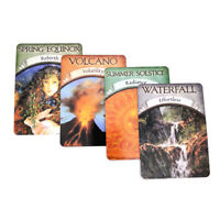 Earth Magic Oracle Card Wiccan Pagan Metaphysical 48PCS Cards Fans Gift K0c