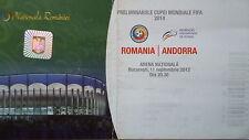 TICKET 11.9.2012 Romania Rumänien - Andorra