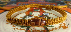 SAI SIN BUDDHA BRACELET BLESSED BY MONKS WOOD BEAD--LUCK PROTECTION LIFE