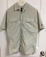 Kuhl Men's Renegade Button Up S/S Shirt Tan Nylon Size XXL - See Description
