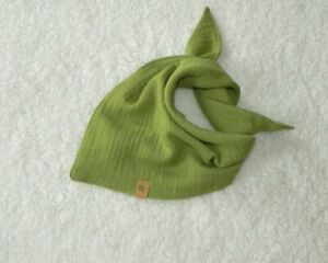 Baby ♥ Musselin Halstuch Dreieckstuch Spucktuch ♥ Apfel Grün ♥ Handmade ♥ Neu ♥