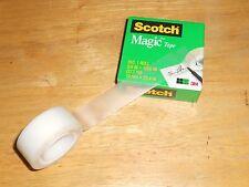 """3M Scotch #810 Magic Tape 3/4"""" x 1000"""" Refill Roll Invisible Matte Finish 1""""Core"""