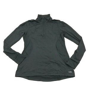 CHAMPION 1/4 Zip Mock Running Shirt Women's Size Medium M Pullover Long Sleeve