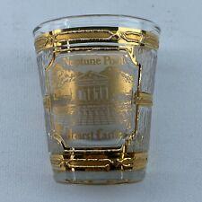 Vintage Culver Shotglass Hearst Castle Neptune Pool  22K Gold Trimmed EUC