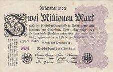 * Ro. 103e - 2 millones de marcos-Deutsches Reich - 1923-Fz: mm *