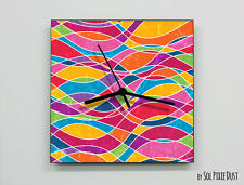 Colorful Abstract seamless pattern Wall Clock