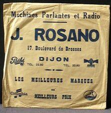 """Pochette 78 trs """"Machines parlantes et radio"""" J.Rosano Dijon EX"""