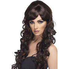 Haut femme marron Pop Starlet Perruque Long Bouclés GLAM STAR modèle brune Fashion fantaisie
