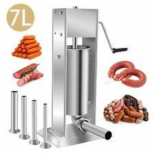 7l Sausage Stuffer Meat Filler Machine Meat Press Stainless Steel Sausage Maker