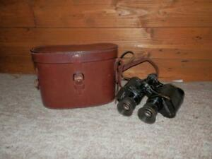 WW1 American Military Bausch and Lomb Stereo 6x30 Binoculars In Leather Case