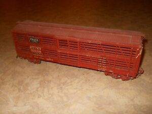 Early O Scale Frisco 40' Wooden Double Deck Livestock Car