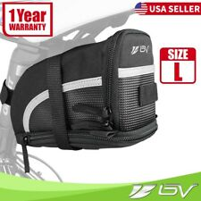 BV Rear Bike Saddle Bag Nylon Expandable Under Seat Saddle Bag 1.5L Tail Pouch L
