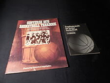 Pair Vintage 1970s Converse Basketball Books 1975 Yearbook - Fundamentals Better