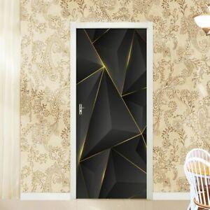 Door Stickers DIY 3D Mural For Living Room Bedroom Home Poster PVC Self adhesive