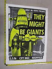 2006 Rock Roll Concert Poster They Might Be Giants Print Mafia LE 66 Robby Robot