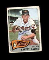 Harvey Haddix Hand Signed 1965 Topps Baltimore Orioles Autograph