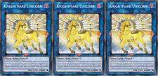 YUGIOH ORICA 3x-SET: Knightmare Unicorn [HANDMADE CUSTOM CARDS]