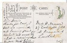 Genealogy Postcard - Family History - Mason - St Prancas - London W.C.  A977