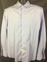 Men's Giorgio Armani LS Dress Shirt 41/16 Blue Italy