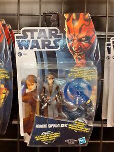 Figurine Star Wars Anakin Skywalker Clone Wars Hasbro no Dark Vador Solo Leia
