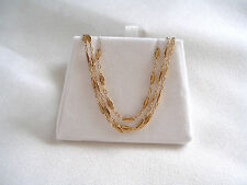 14k Yellow Gold 'Bar' Link Chain- Necklace/Double Anklet   (22 Inch)
