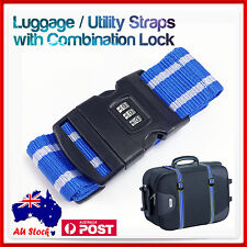 Travel Packing Luggage Suitcase Secure Lock Safe Password Strap Accessories