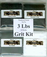 Rock Tumbler SiC Grit Kit Polishes 3  Lbs of Rocks ! Best on eBay!! NEW!!