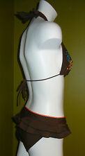 Personal Identity  NWT $24 XL Bikini Bottom BROWN Ruffle Back Hipsters