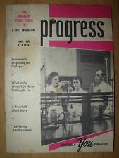VINTAGE UNITY SCHOOL OF CHRISTIANITY MAGAZINE APRIL 1959 PROGRESS