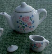Nice Vintage Miniature China Teapot, and Cream Pitcher, GOOD CONDITION