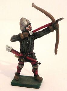 Archer Soldier Miniature Medieval Toy Soldier Figurine Diorama Hand Painted