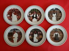 6 GUY BUFFET L' ETALAGE ( THE SHOPKEEPERS ) COLLECTION DESSERT PLATES SALAD