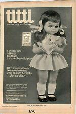 1971 ADVERT Cardinal Doll Titti and Son Cialdino Italy Sebino Brumberger House