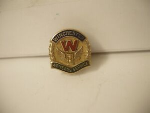 Vintage Winchester Original 40 Year Service Award Pin 10K Gold New Haven ct