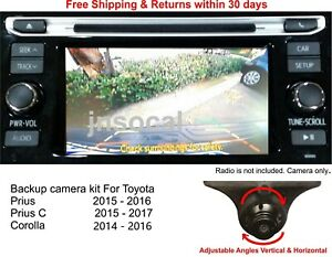 Backup camera kit For Toyota Prius, Prius C 2015 - 2016 and Corolla 2014 - 2016